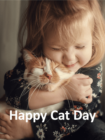 I Love Cat! Happy Cat Day Card