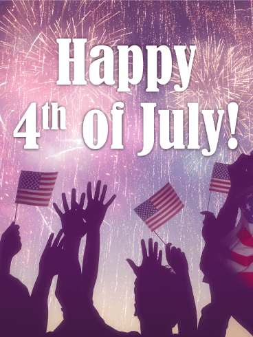 Time To Celebrate Happy 4th Of July Card Birthday Greeting