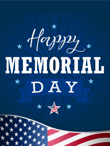 Let's Celebrate - Happy Memorial Day Card
