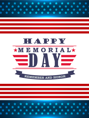 Remember & Honor - Happy Memorial Day Card