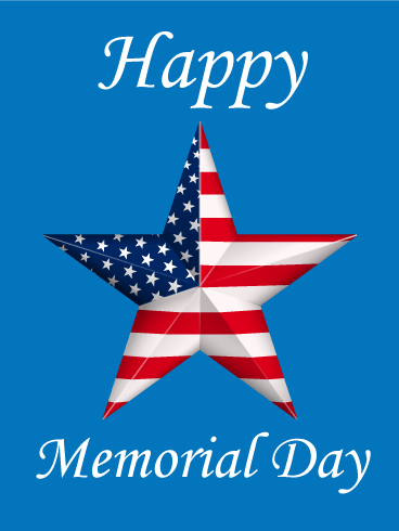 Happy Memorial Day Star Card