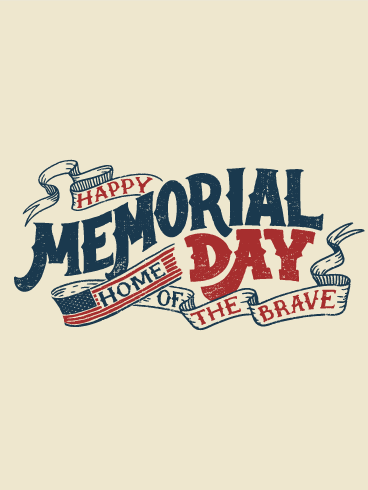 Classic Happy Memorial Day Card