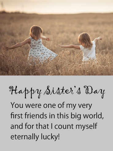 Eternally Lucky - Happy Sister's Day Card
