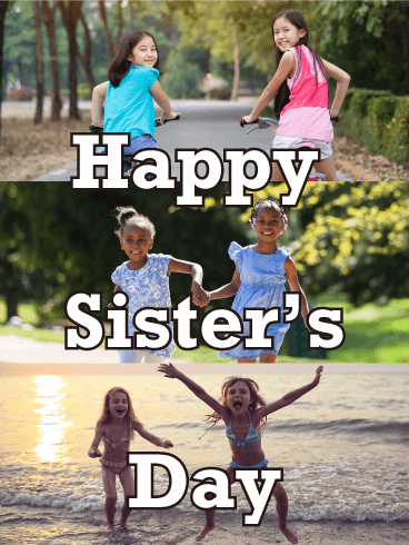 Playing Together - Happy Sister's Day Card