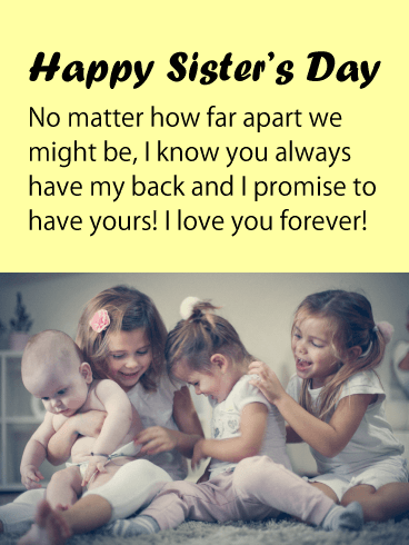 Love You Forever - Happy Sister's Day Card
