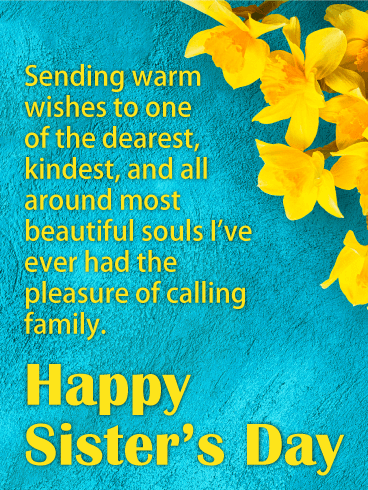 Beautiful Soul - Happy Sister's Day Card