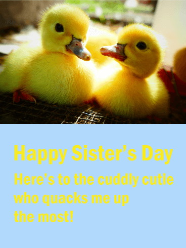 Cute Ducklings - Happy Sister's Day Card