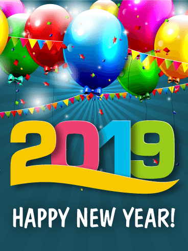 Fun New Year Party Card 2019