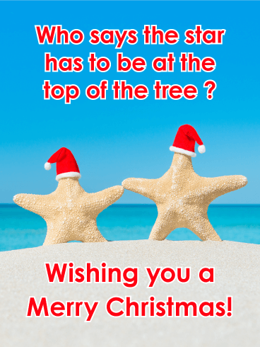 Top of the Tree - Funny Merry Christmas Card