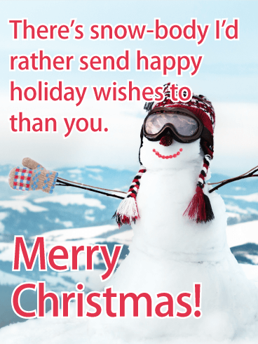 Top of a Mountain - Funny Merry Christmas Card