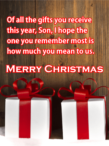 You Mean to us! Merry Christmas Card for Son