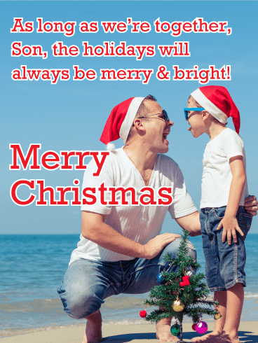 Joy of the Season - Merry Christmas Card for Son