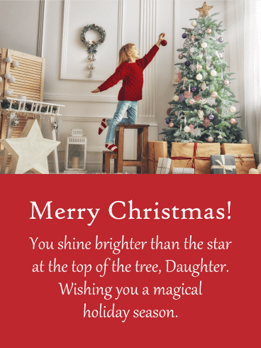 Magical Holiday - Merry Christmas Card for Daughter