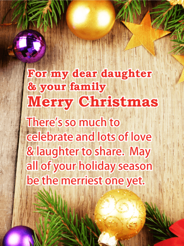 Lots of Love - Merry Christmas Card for Daughter & Her Family