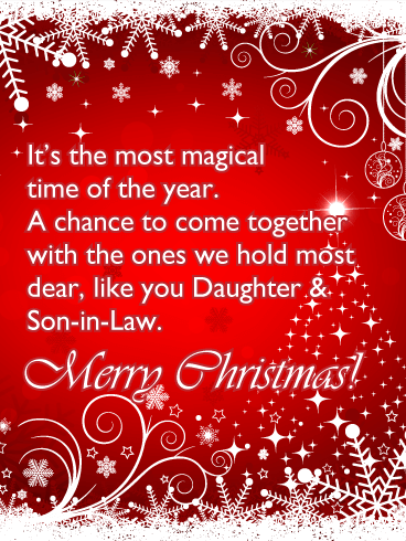 Magical Time - Merry Christmas Card for Daughter & Son-in-Law