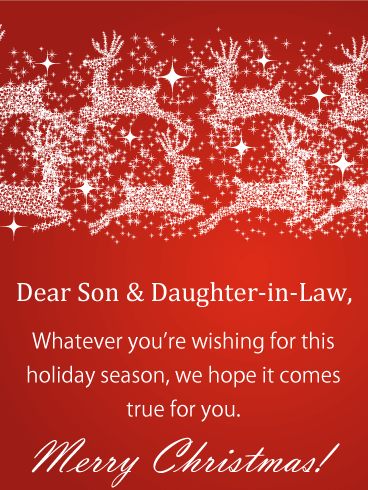 free christmas verses for son and daughter in law