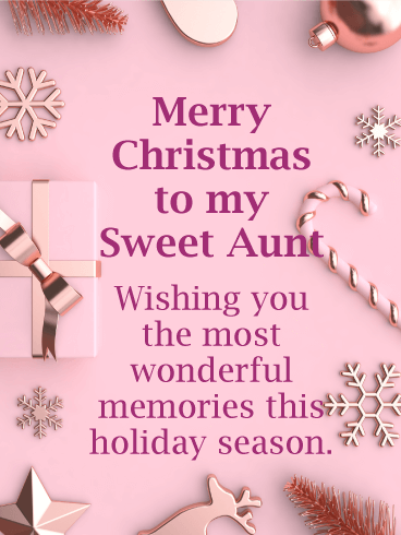 Merry Christmas to my Sweet Aunt Card