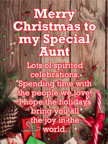 Merry Christmas to my Special Aunt Card