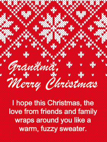 Sweater from Grandma - Merry Christmas Card for Grandmother