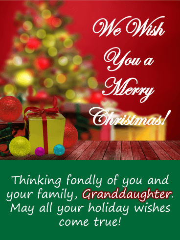 Christmas Card Grandad Grandma Grand-daughter Grandson Grandchildren Xmas Wishes