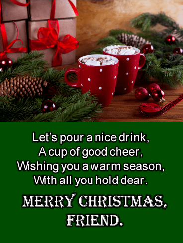 Christmas Cocoa - Merry Christmas Card for Friends