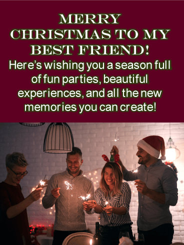 Friendly Holiday Party - Merry Christmas Card for Friends