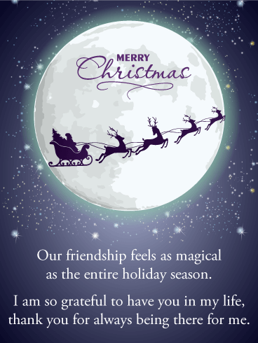 And To All a Goodnight - Merry Christmas Card for Friends