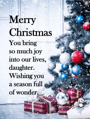 Heartwarming Tree - Merry Christmas Card for Daughter