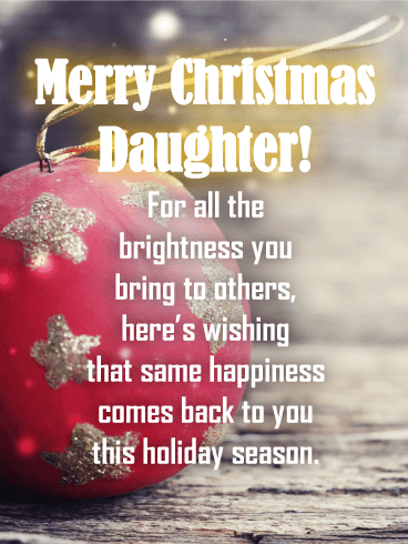 Red Ornament - Merry Christmas Card for Daughter | Birthday & Greeting  Cards by Davia