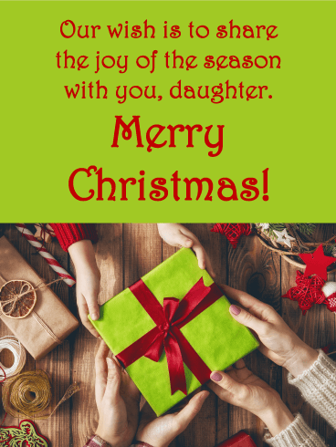Classic Gift - Merry Christmas Card for Daughter