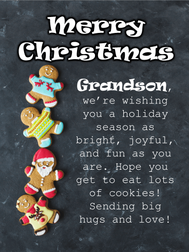 Gingerbread Cookies - Merry Christmas Card for Grandson