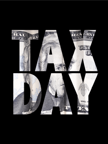 Black Tax Day Card