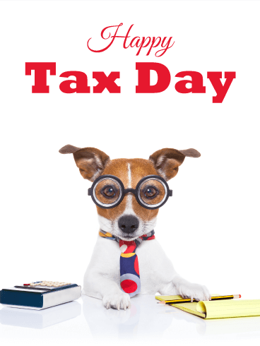 A Dog Accountant - Tax Day Card