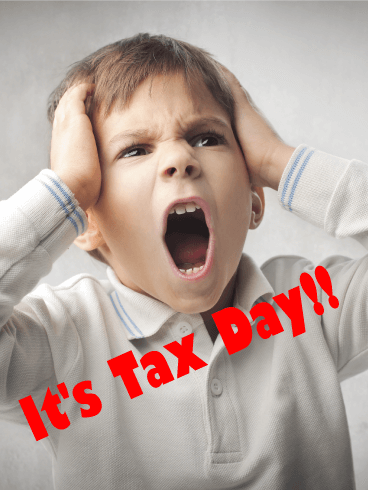 It's the Time! Tax Day Card