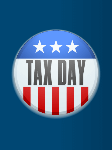 American Tax Day Card