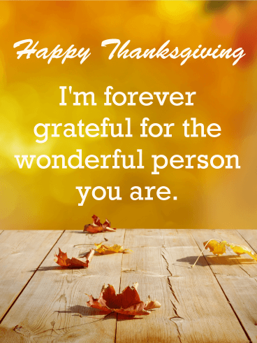 Touching Message Happy Thanksgiving Card