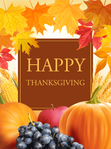 Let's Celebrate! Happy Thanksgiving Card