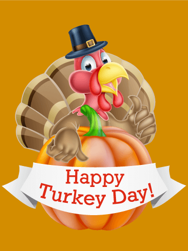 Smiling Turkey Happy Thanksgiving Card