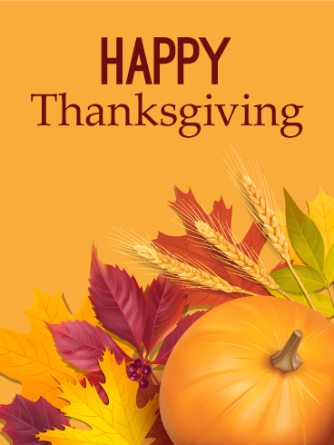 Be Thankful - Happy Thanksgiving Card