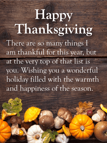 Many Things to be Thankful - Happy Thanksgiving Card