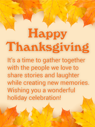 It's Time to Gather! Thanksgiving Card