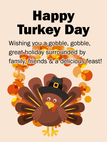 Cute turkey happy thanksgiving card birthday greeting cards by davia cute turkey happy thanksgiving card m4hsunfo