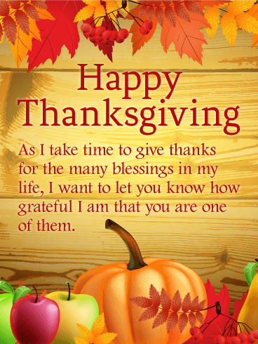 Thanks for the Many Blessings - Thanksgiving Card