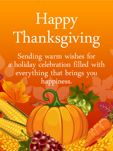 Heartfelt Happy Thanksgiving Card