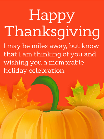 Thinking of You! Happy Thanksgiving Card | Birthday