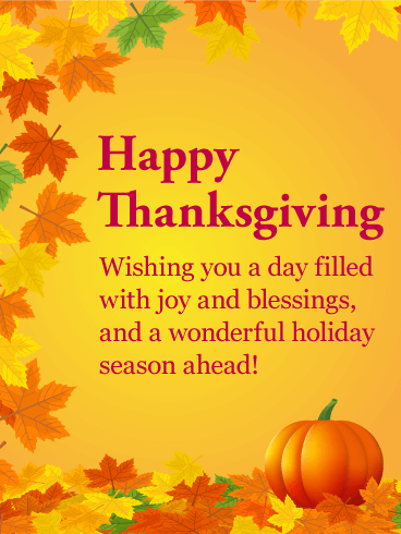 Joyful Happy Thanksgiving Card