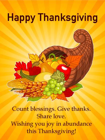 Joy in abundance happy thanksgiving card birthday greeting joy in abundance happy thanksgiving card m4hsunfo