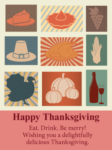 Delightfully Delicious! Happy Thanksgiving Card
