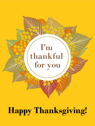 Harvest Gold Happy Thanksgiving Card