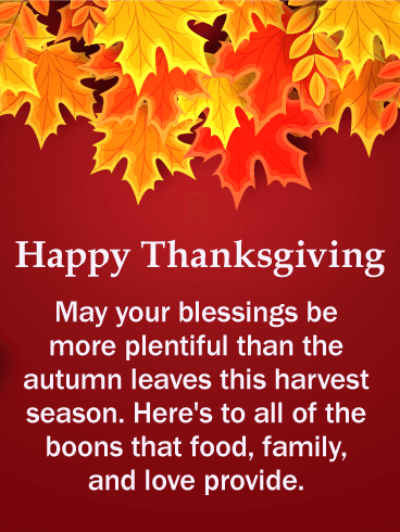 Autumn Color Thanksgiving Card